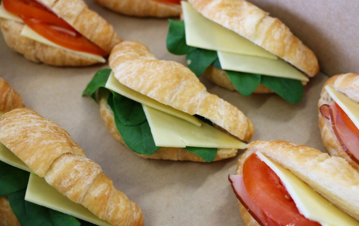 Fresh sandwiches catered