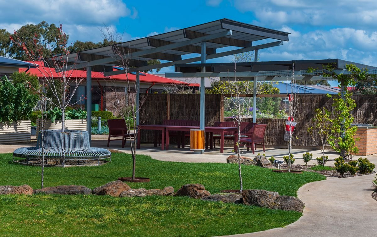 Outdoor area at Barwarre Gardens in Marshall